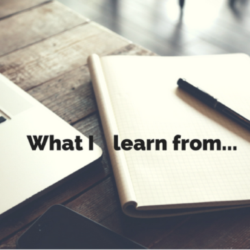 What I Learn From: Introducing a new series