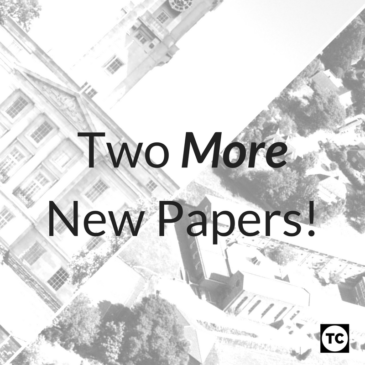 Two More New Papers!