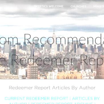 Random Recommendation: The Redeemer Report