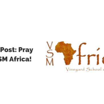 Guest Post: Pray for VSM Africa!